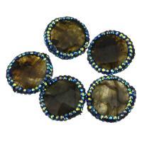 Labradorit Perlen, mit Ton, facettierte, 20x5.50mm, Bohrung:ca. 0.5mm, 10PCs/Menge, verkauft von Menge