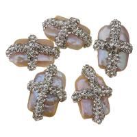 Barock kultivierten Süßwassersee Perlen, Natürliche kultivierte Süßwasserperlen, mit Ton, 14-15x21-22x10mm, Bohrung:ca. 0.5mm, 10PCs/Menge, verkauft von Menge