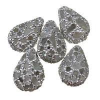 Strass Ton befestigte Perlen, Lehm pflastern, mit Labradorit, mit Strass, 19-21x28-30x10-12mm, Bohrung:ca. 1mm, 10PCs/Menge, verkauft von Menge
