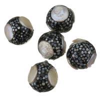Barock kultivierten Süßwassersee Perlen, Natürliche kultivierte Süßwasserperlen, mit Ton, 22mm, Bohrung:ca. 1mm, 10PCs/Menge, verkauft von Menge