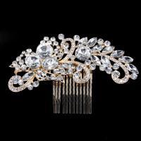 Braut Dekoratives Haarkämmchen, Zinklegierung, plattiert, für Braut & mit Strass, keine, 130x90mm, verkauft von PC