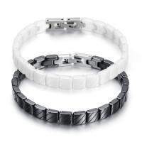 Porzellan Armband, mit Edelstahl, für Frau, keine, 3.3mm, 7mm, verkauft per ca. 7.2 ZollInch Strang
