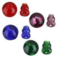 Lampwork 3-Loch-Guru-Perlen-Set, keine, 14x14x14mm, 9x12.5x9mm, Bohrung:ca. 3mm, 2mm, 10SetsSatz/Menge, 2PCs/setzen, verkauft von Menge