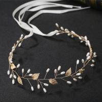 Zinklegierung Schweißband, mit Stoff & Kunststoff Perlen, für Braut, keine, frei von Nickel, Blei & Kadmium, 400mm, verkauft von PC