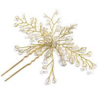 Braut Haarnadel, Zinklegierung, mit Kristall, plattiert, für Braut, keine, frei von Nickel, Blei & Kadmium, 110x100mm, verkauft von PC
