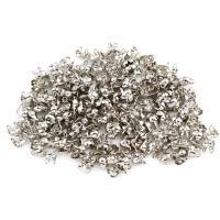 Eisen Perlenkappe, silberfarben plattiert, frei von Nickel, Blei & Kadmium, 4x4x2mm, ca. 10000PCs/Tasche, verkauft von Tasche
