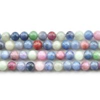 Natürlicher Zoisit Perle, rund, verschiedene Größen vorhanden, farbenfroh, Bohrung:ca. 0.5-0.8mm, verkauft per ca. 15.5 ZollInch Strang
