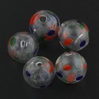 Handgewickelte Perlen, Lampwork, rund, 13x13mm, Bohrung:ca. 1mm, 20PCs/Tasche, verkauft von Tasche