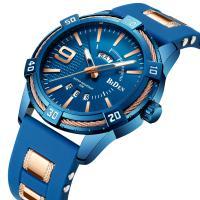 BIDEN® Uhrenkollektion, Silikon, mit Glas & Edelstahl & Zinklegierung, plattiert, für den Menschen, keine, 46mm, Länge:ca. 10.8 ZollInch, verkauft von PC