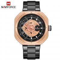 NAVIFORCE® Uhrenkollektion, Edelstahl, mit Glas & Zinklegierung, plattiert, für den Menschen & glänzend, keine, 45mm, Länge:ca. 9.6 ZollInch, verkauft von PC