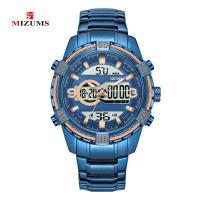 MIZUMS® Uhrenkollektion, Edelstahl, mit Glas & Zinklegierung, plattiert, für den Menschen & glänzend, keine, 50mm, Länge:ca. 9 ZollInch, verkauft von PC