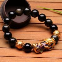 Edelstein Armbänder, Fabelhaft wildes Tier, goldfarben plattiert, unisex & verschiedene Größen vorhanden & Emaille Stimmung, keine, verkauft per ca. 7.5 ZollInch Strang