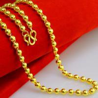 Messing Halskette, 24 K vergoldet, verschiedene Größen vorhanden & Kugelkette & für den Menschen, frei von Nickel, Blei & Kadmium, verkauft per ca. 23 ZollInch Strang