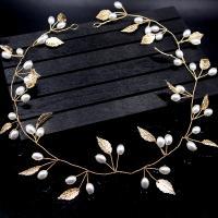 Braut Haar Blumen, Messing, mit Kunststoff Perlen, plattiert, für Braut, keine, frei von Nickel, Blei & Kadmium, 450x30mm, verkauft von PC