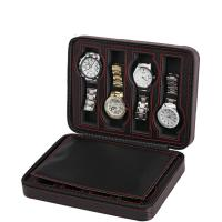Uhr Schmuckkasten, PU Leder, mit Kohlenstoff-Faser & Papier, Rechteck, schwarz, 235x180x60mm, verkauft von PC