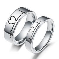Edelstahl Paar- Ring, verschiedene Größen vorhanden & Emaille, originale Farbe, frei von Nickel, Blei & Kadmium, verkauft von PC