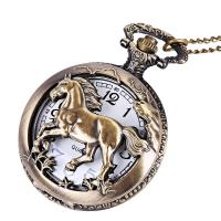 Zinklegierung Halskette Uhr, mit Kunststoff, unisex & geschnitzed & hohl, frei von Blei & Kadmium, 46mm,15mm, verkauft per ca. 1.41 ZollInch Strang