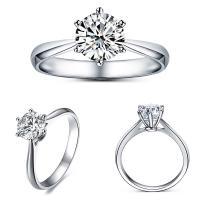 Ehepaar Fingerringe, 925er Sterling Silber, Klaue, platiniert, verschiedene Größen vorhanden & verschiedene Stile für Wahl & für paar & mit kubischem Zirkonia, verkauft von PC