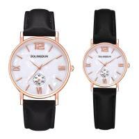 Ehepaar Uhrenarmbänder, Zinklegierung, mit PU Leder, plattiert, verschiedene Größen vorhanden & für paar, frei von Nickel, Blei & Kadmium, Länge:ca. 8 ZollInch, ca. 9 ZollInch, verkauft von PC