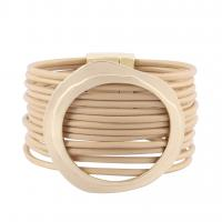 Rindsleder Armband, Kuhhaut, mit Zinklegierung, plattiert, unisex & Multi-Strang, keine, 35mm, 53mm, verkauft per ca. 7.6 ZollInch Strang