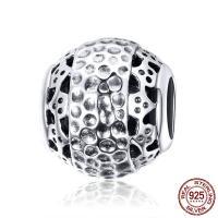 Bali Sterling Silber Perlen, Thailand, ohne troll, 11x10mm, Bohrung:ca. 4.5-5mm, verkauft von PC