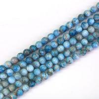 Apatite Perle, poliert, DIY & verschiedene Größen vorhanden, Bohrung:ca. 1mm, verkauft von Strang
