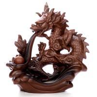 Porcelain Backflow Incense Burner, Porzellan, Drachen, 200x210x120mm, verkauft von PC