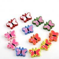 Holzperlen, Holz, Schmetterling, Einbrennlack, 15x19mm, Bohrung:ca. 1mm, verkauft von Tasche