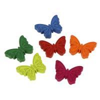 Holzperlen, Holz, Schmetterling, Einbrennlack, 23x16mm, Bohrung:ca. 2mm, 50PCs/Tasche, verkauft von Tasche