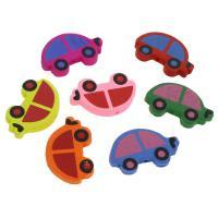 Holzperlen, Holz, Auto, Einbrennlack, 35mm, Bohrung:ca. 2mm, 50PCs/Tasche, verkauft von Tasche
