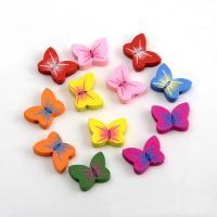 Holzperlen, Holz, Schmetterling, Einbrennlack, 25x18mm, Bohrung:ca. 2mm, 500PCs/Tasche, verkauft von Tasche