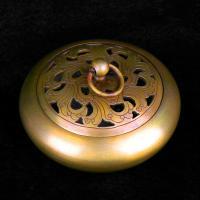 Räucherstäbchen, Messing, antike Goldfarbe plattiert, hohl, frei von Nickel, Blei & Kadmium, 100x60mm, verkauft von PC