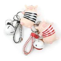 Kunststoff Schlüsselanhänger, mit Gummi, Schwein, unisex, keine, 12cm,8cm, verkauft von PC