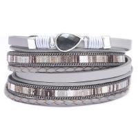 Kunstleder Armband, mit Zinklegierung, plattiert, für Frau & Multi-Strang, keine, 385x1180mm, verkauft von PC