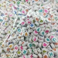 Gemischte Acrylperlen, Acryl, gemischte Farben, 7x4mm, Bohrung:ca. 1.3mm, ca. 3700PCs/Tasche, verkauft von Tasche