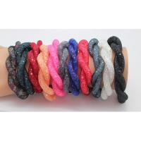 Kristall Armbänder, mit Magnet, plattiert, für Frau, mehrere Farben vorhanden, Länge:ca. 8 ZollInch, verkauft von PC