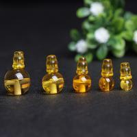 Gelbquarz Perlen Perle, poliert, verschiedene Größen vorhanden, Bohrung:ca. 1mm, 2PCs/setzen, verkauft von setzen