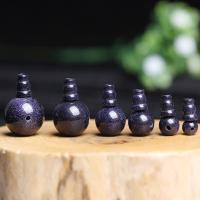 blauer Goldsand Perle, poliert, verschiedene Größen vorhanden, Bohrung:ca. 1mm, 2PCs/setzen, verkauft von setzen