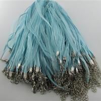 Etamine Halskette Schnur, mit Eisen, mit Verlängerungskettchen von 5cm, Platinfarbe platiniert, elastisch, keine, frei von Nickel, Blei & Kadmium, 4mm, Länge:ca. 16.9-17.7 ZollInch, 100SträngeStrang/Tasche, verkauft von Tasche