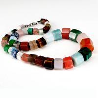 Edelstein Schmuck Halskette, poliert, unisex, farbenfroh, 14x17mm,14x15mm,13x14mm,11x13mm,9x12mm,8x11mm,7x9mm, verkauft per ca. 19.69 ZollInch Strang