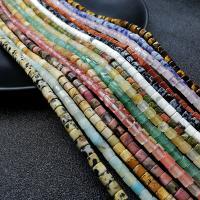 Mischedelstein Perlen, Edelstein, poliert, verschiedenen Materialien für die Wahl, keine, 4mm, Bohrung:ca. 1mm, ca. 115PCs/Strang, verkauft von Strang