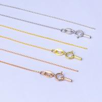 925 Sterling Silber Halskette Kette, 925er Sterling Silber, plattiert, unterschiedliche Länge der Wahl & Kastenkette, keine, verkauft von Strang