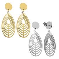 Edelstahl Tropfen Ohrring, für Frau, keine, 52mm,22x40mm, verkauft von Paar