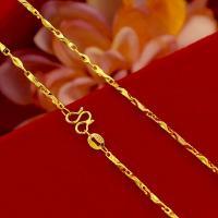 Messing Halskette Gliederkette, goldfarben plattiert, Koreanischen Stil & verschiedene Stile für Wahl, frei von Nickel, Blei & Kadmium, 2mm, verkauft per ca. 17.72 ZollInch Strang