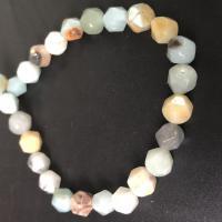 Amazonit Perle, natürlich, facettierte, gemischte Farben, 8MM, ca. 48PCs/Strang, verkauft per ca. 14 ZollInch Strang