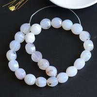 Ozean Achat Perle, natürlich, DIY, weiß, 14x16mm, ca. 25PCs/Strang, verkauft per ca. 15 ZollInch Strang