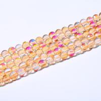 Perle, poliert, DIY & verschiedene Größen vorhanden, gelb, verkauft per ca. 15 ZollInch Strang