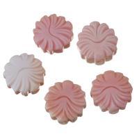 Achat Perlen, Rosa Muschel, Blume, Rosa, 16x16x7mm, Bohrung:ca. 2mm, verkauft von PC