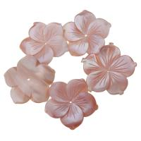 Achat Perlen, Rosa Muschel, Blume, Rosa, 30x28x6mm, Bohrung:ca. 1mm, verkauft von PC