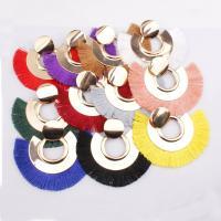 Zinklegierung Troddel Ohrring,  , für Frau, keine, frei von Nickel, Blei & Kadmium, 80x70mm, verkauft von PC